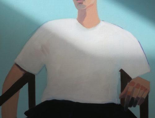 Homme, 40x50cm, Huile sur toile