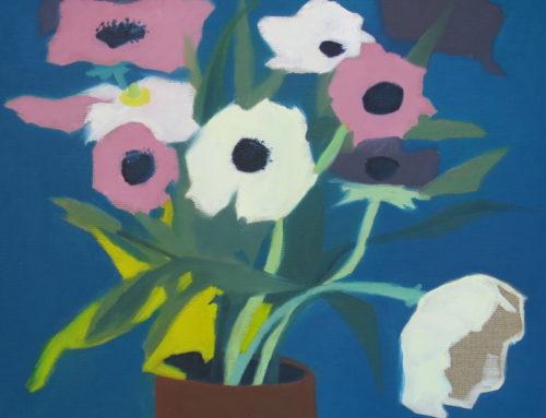 Bouquet Anne, 40x40cm, Huile sur toile