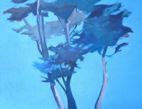 Les Arbres du Paradis, 40x50cm, Huile sur toile