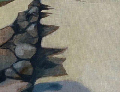 plage de Gouermel, 20x40cm, huile sur toile