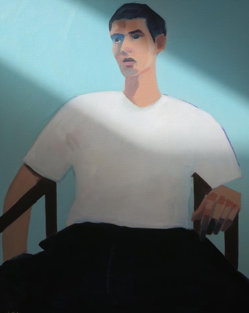 Homme, 40x50cm, Huile sur toile. vendu